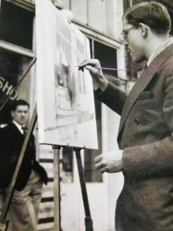 1948.03 Senor Martinez - George Painting.jpg