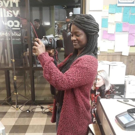 Demetria Osei-Tutu - College Fellow: Pre-Production AssistantA recent Mount Holyoke College graduate; when she's not crying over her love of dogs, she's petting them.