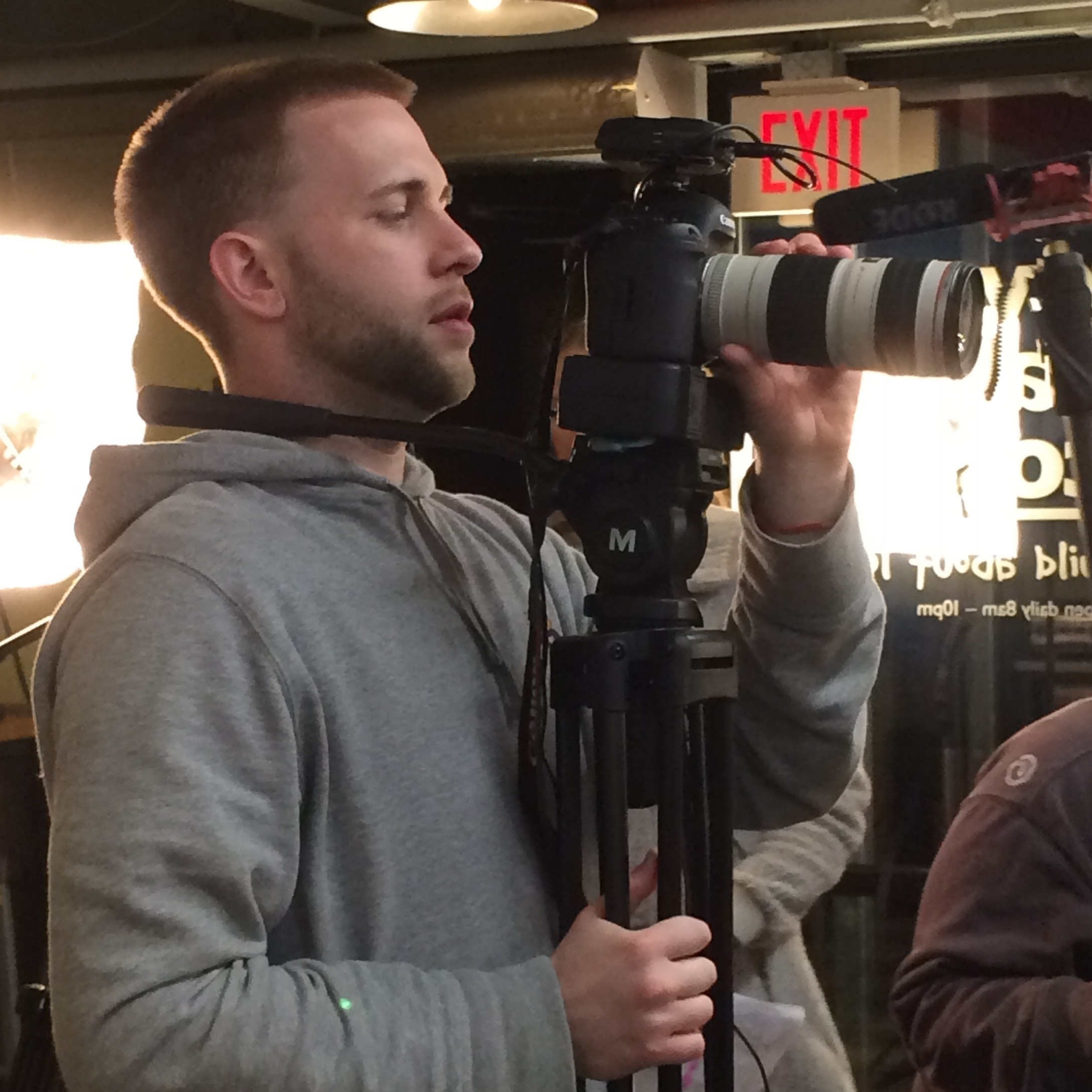 Jon Koehler - Director of Photography; Editor; WriterLiving to learn and loving to teach, he's the guy holding the camera -(aka the guy yelling at all the noisy people!)