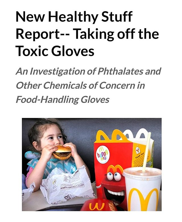 """Just when you thought you were protecting your hands by  wearing gloves, this information comes out! Check out this article to find out more information!"" https://www.ecocenter.org/new-healthy-stuff-report-taking-toxic-gloves"