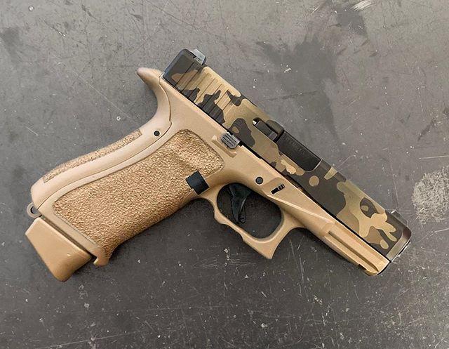 Glock 19x build! Cerakote and stipple. #hfjoutdoors #glock #19x #cerakote #stippledglock #customglock