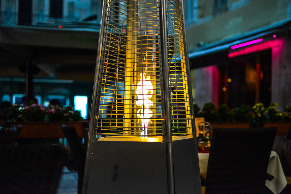 Lighting Up patio heater
