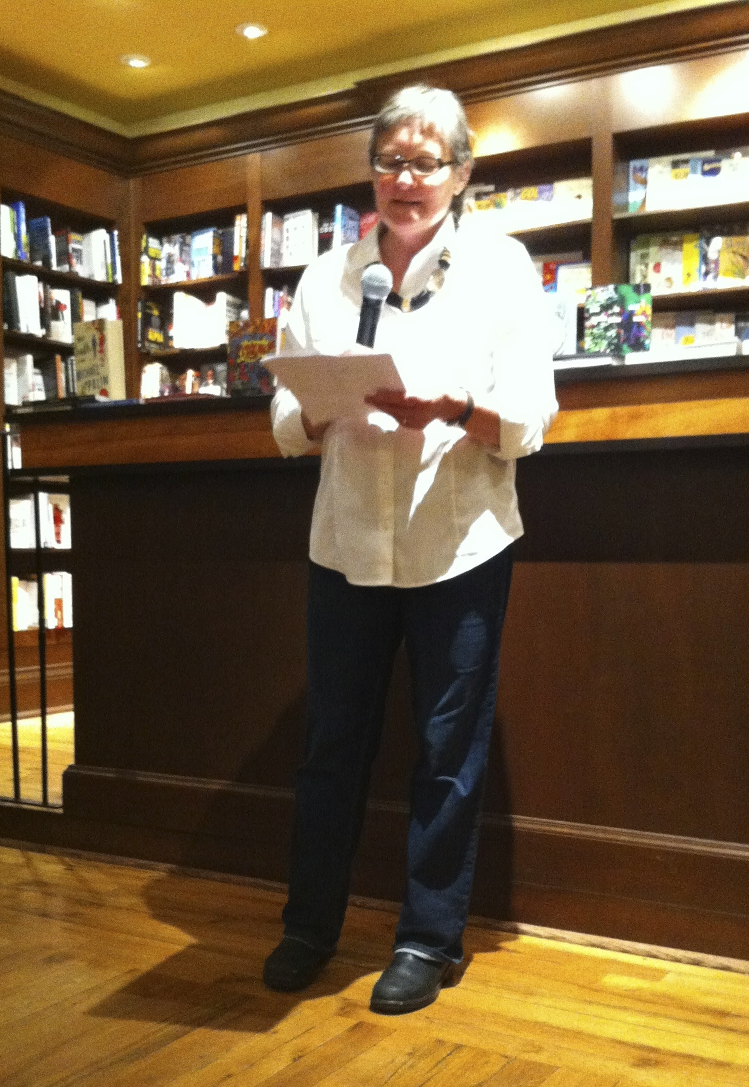 Reading at the launch party for Sterling #4. Photo taken by my friend and fellow writer, Leslie Carlin