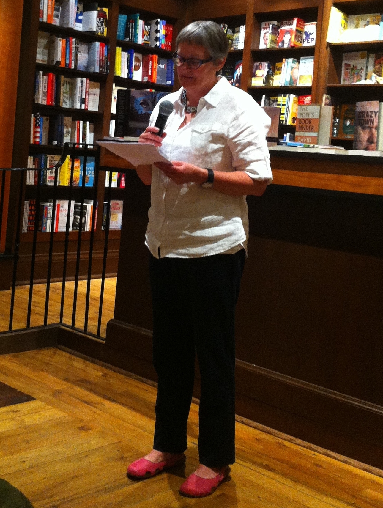 Reading at the launch party for Sterling #5. Photo taken by my friend and fellow writer, Leslie Carlin.