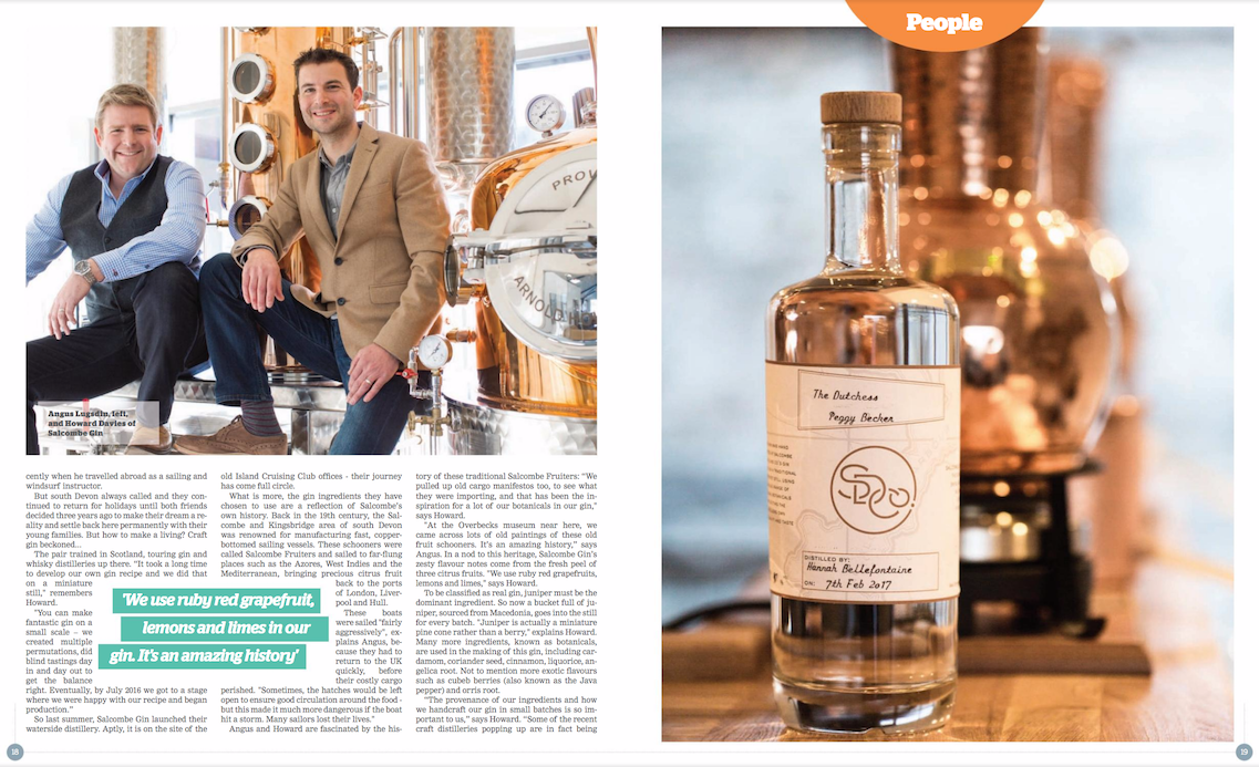 Salcombe Gin in West Magazine Article