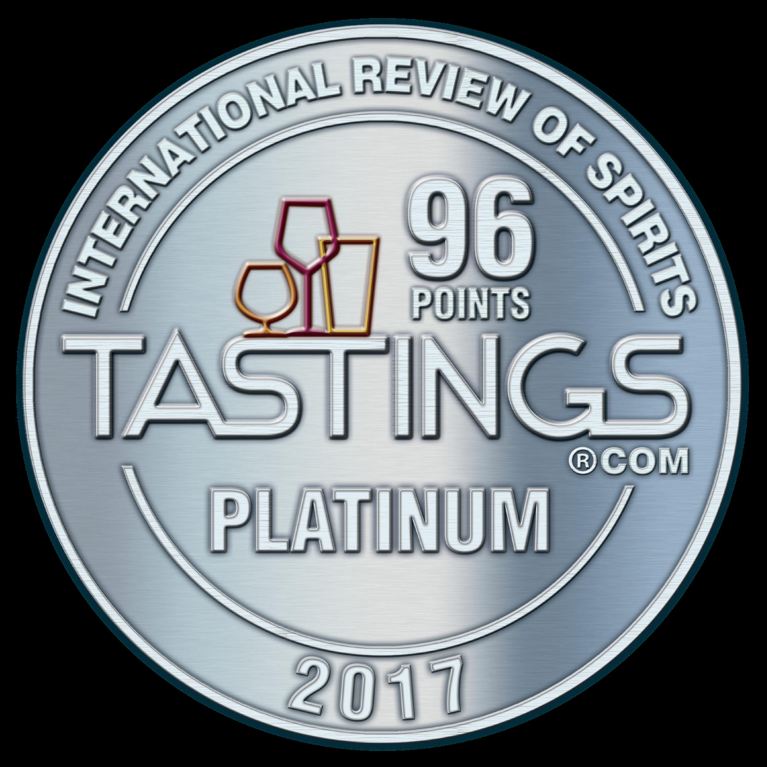 Beverage Testing Institute Platinum Medal 2017
