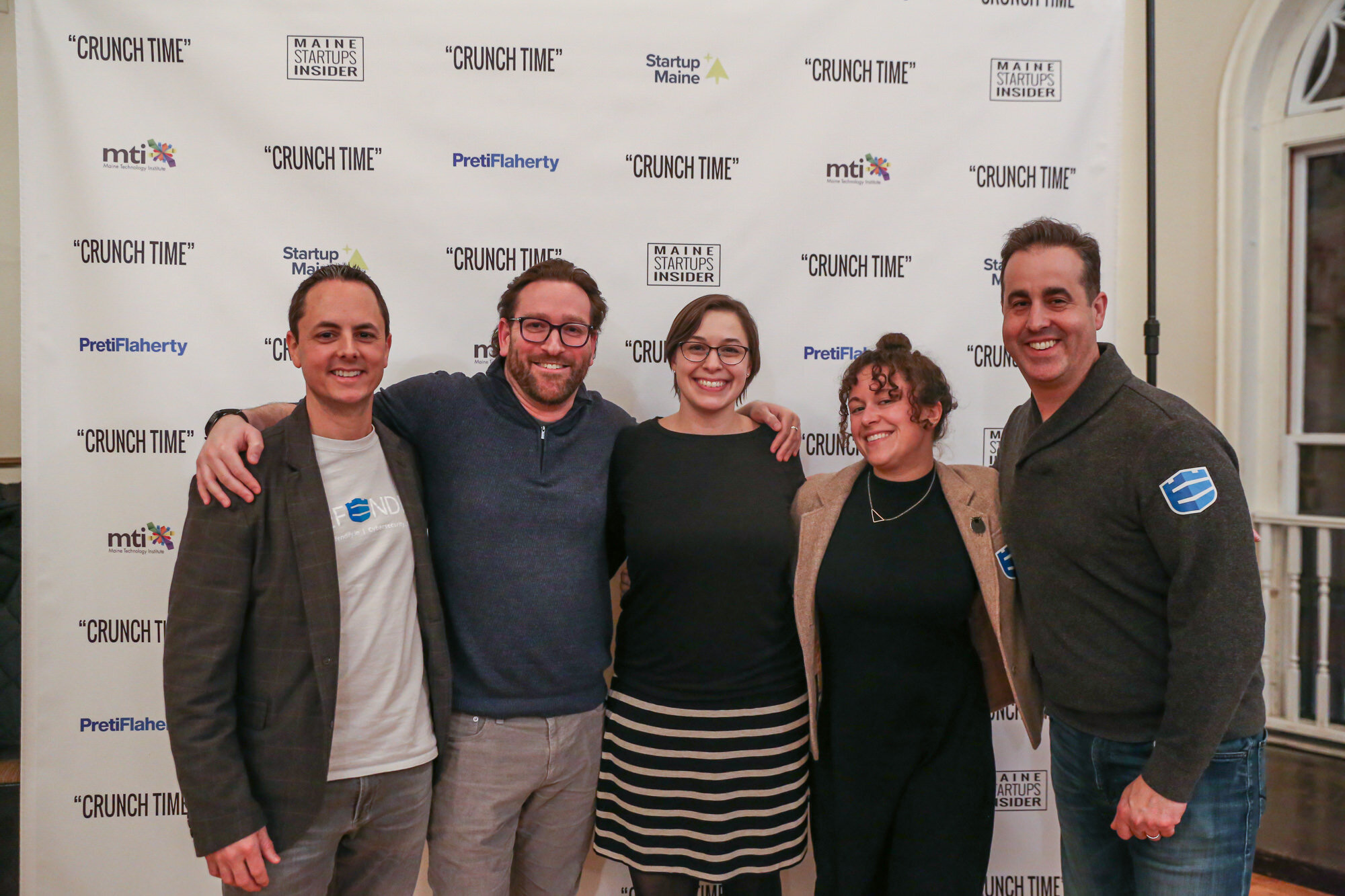 Defendify team members at the  Crunch Time  premier.