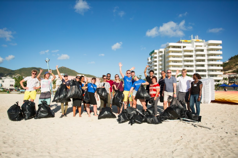 saint martin beach clean up recycling sustainable