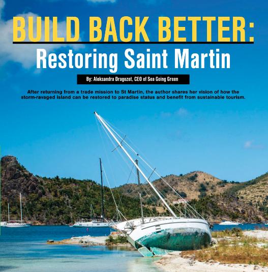 sailing island sustainability eco infrastructure marine tourism