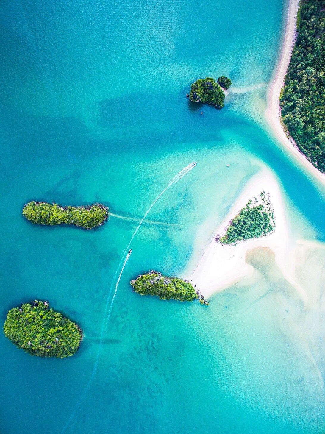 Tropical tourism island