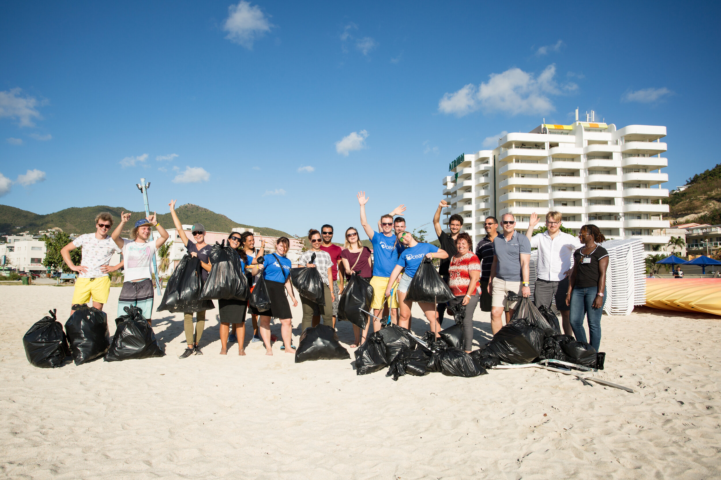 Saint Martin Beach cleanup