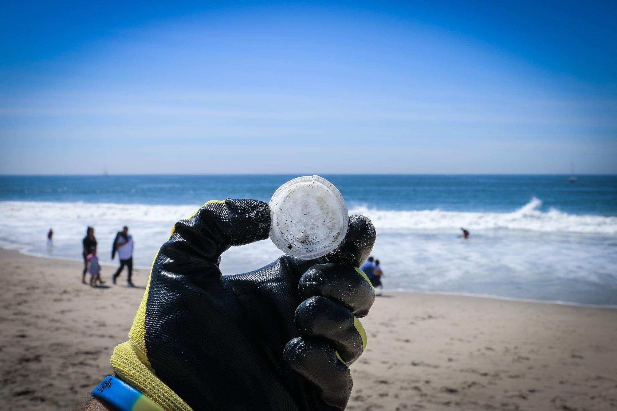 Plastic Bottle Cap found at California Beach Cleanup