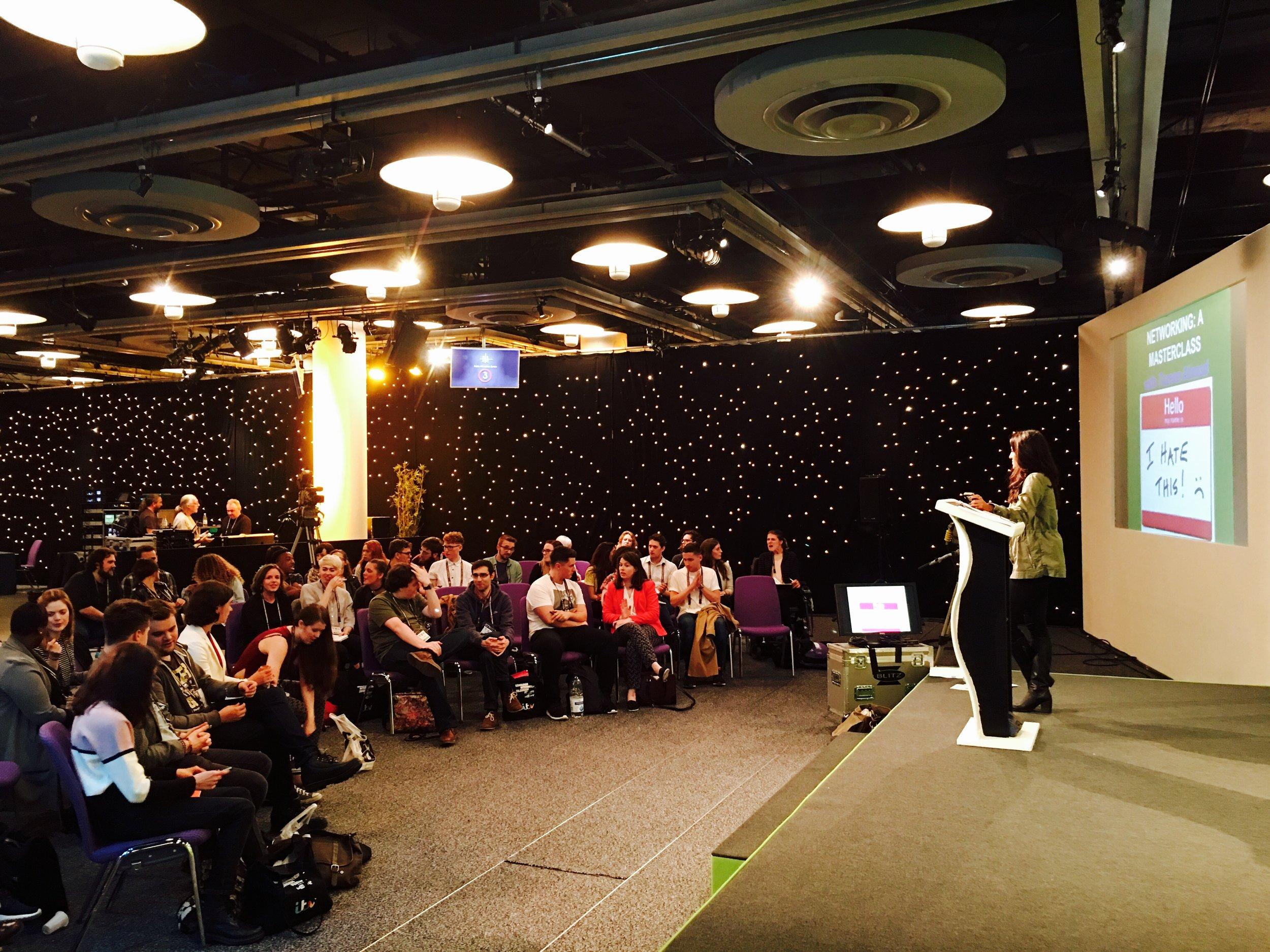 Talk on Networking at Edinburgh International TV festival - August 2014-17