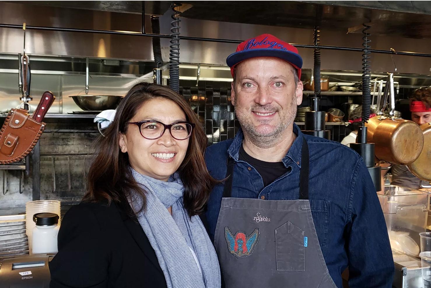 Steve and Dina Samson portrait Eater LA article