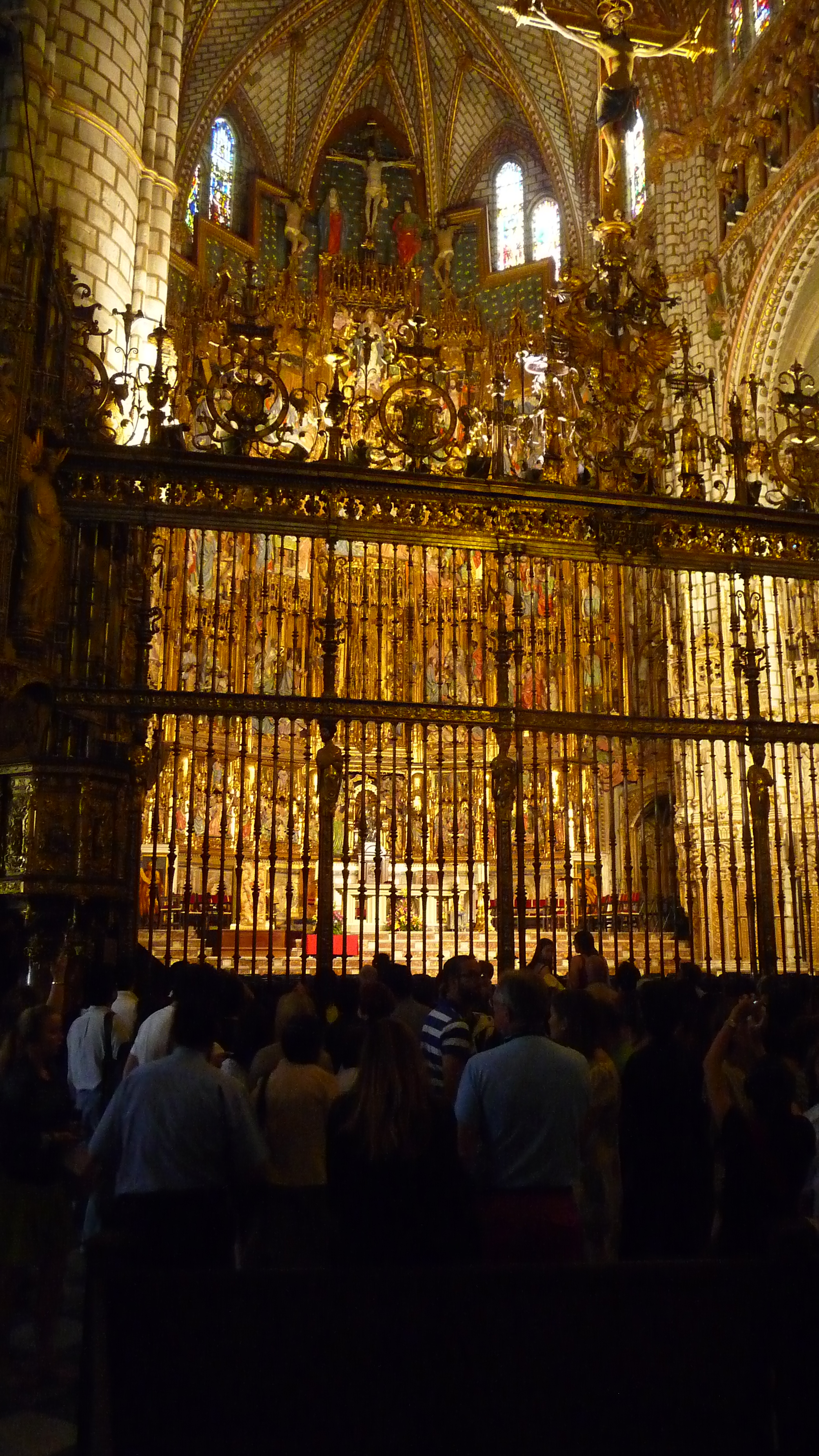 The High Altar in Toledo's Cathedral-gold plated iron grille