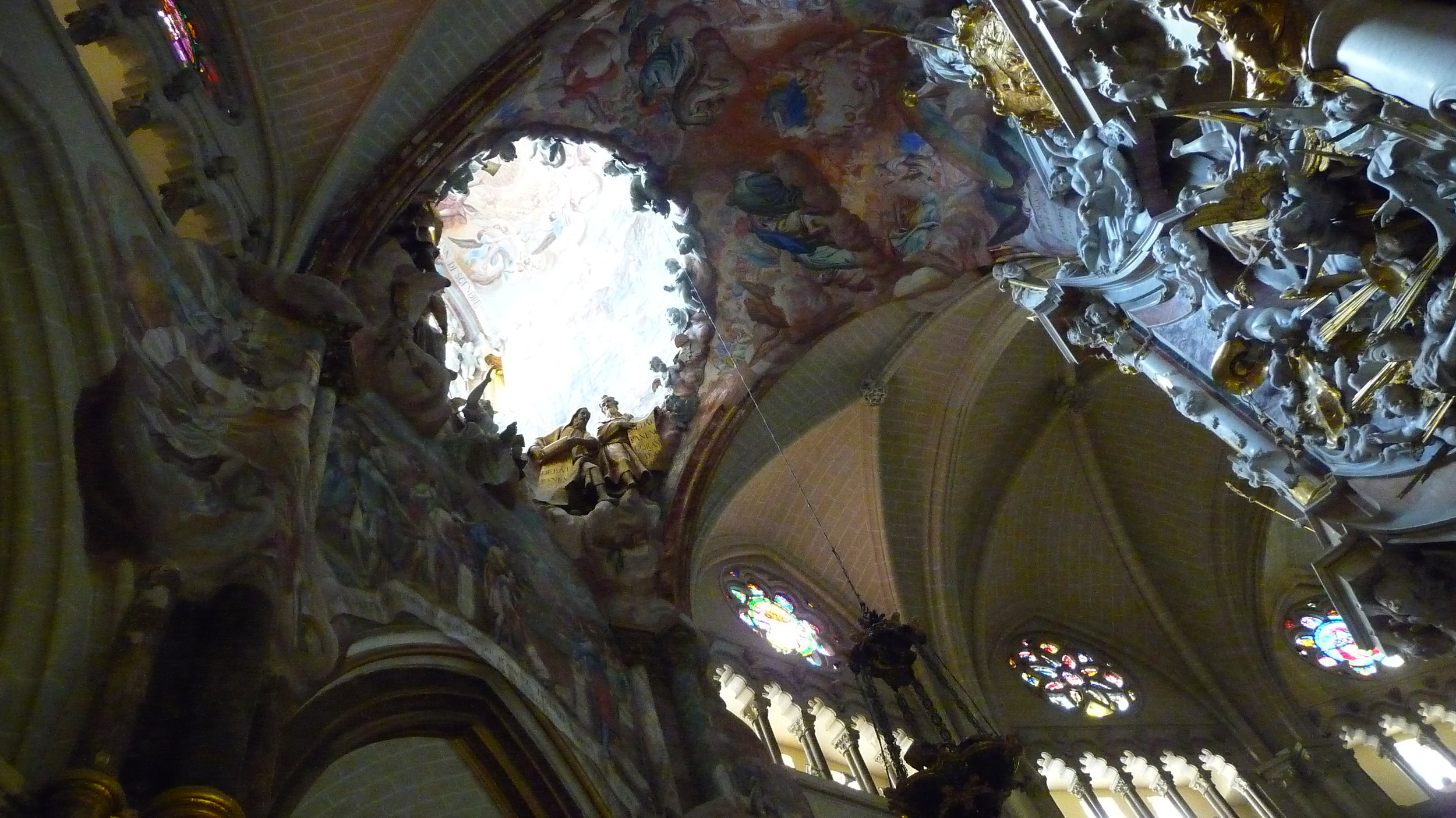 Transparente in Toledo's cathedral-framed with Baroque art