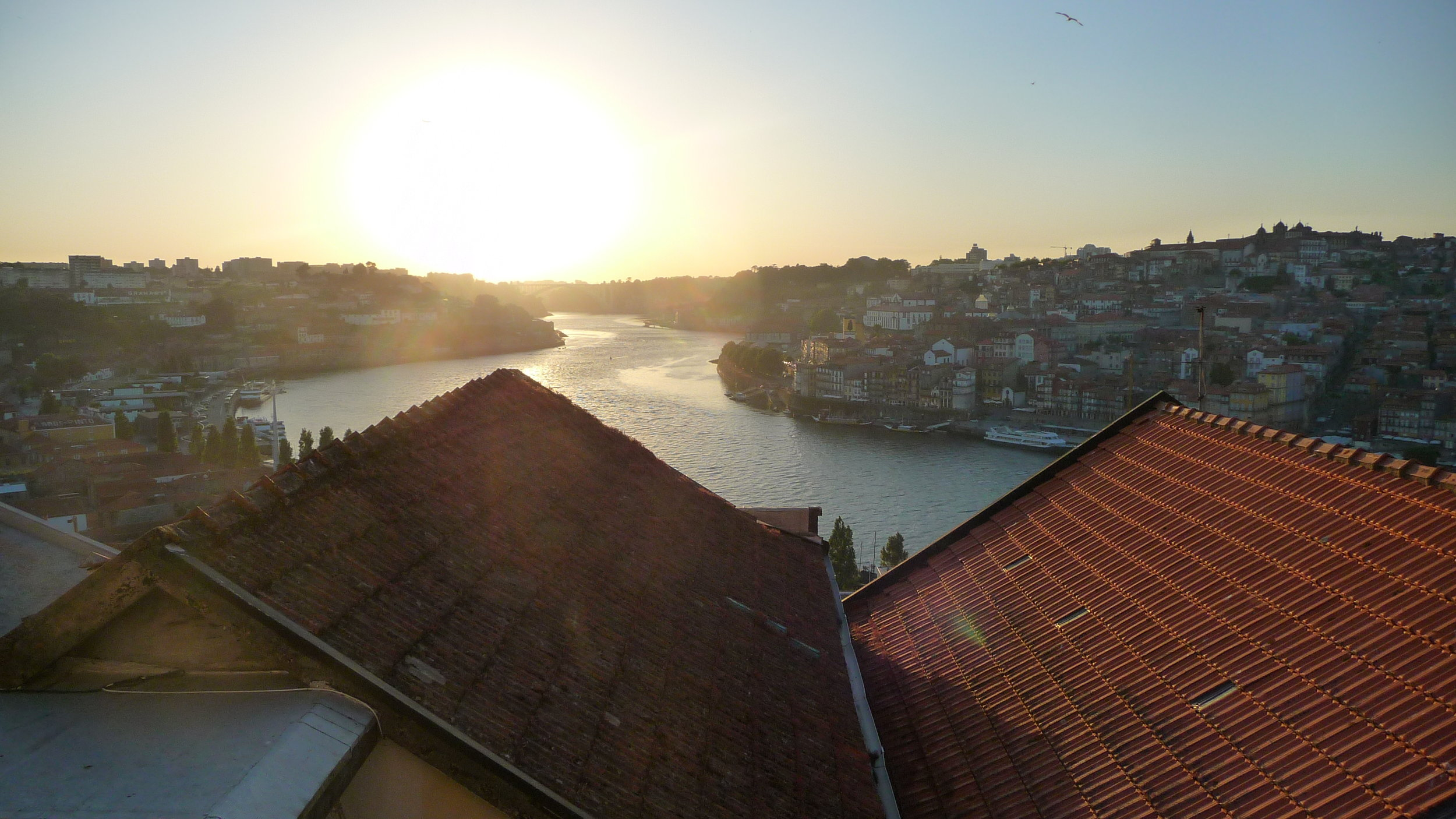 Porto's Douro River-view from our apartment