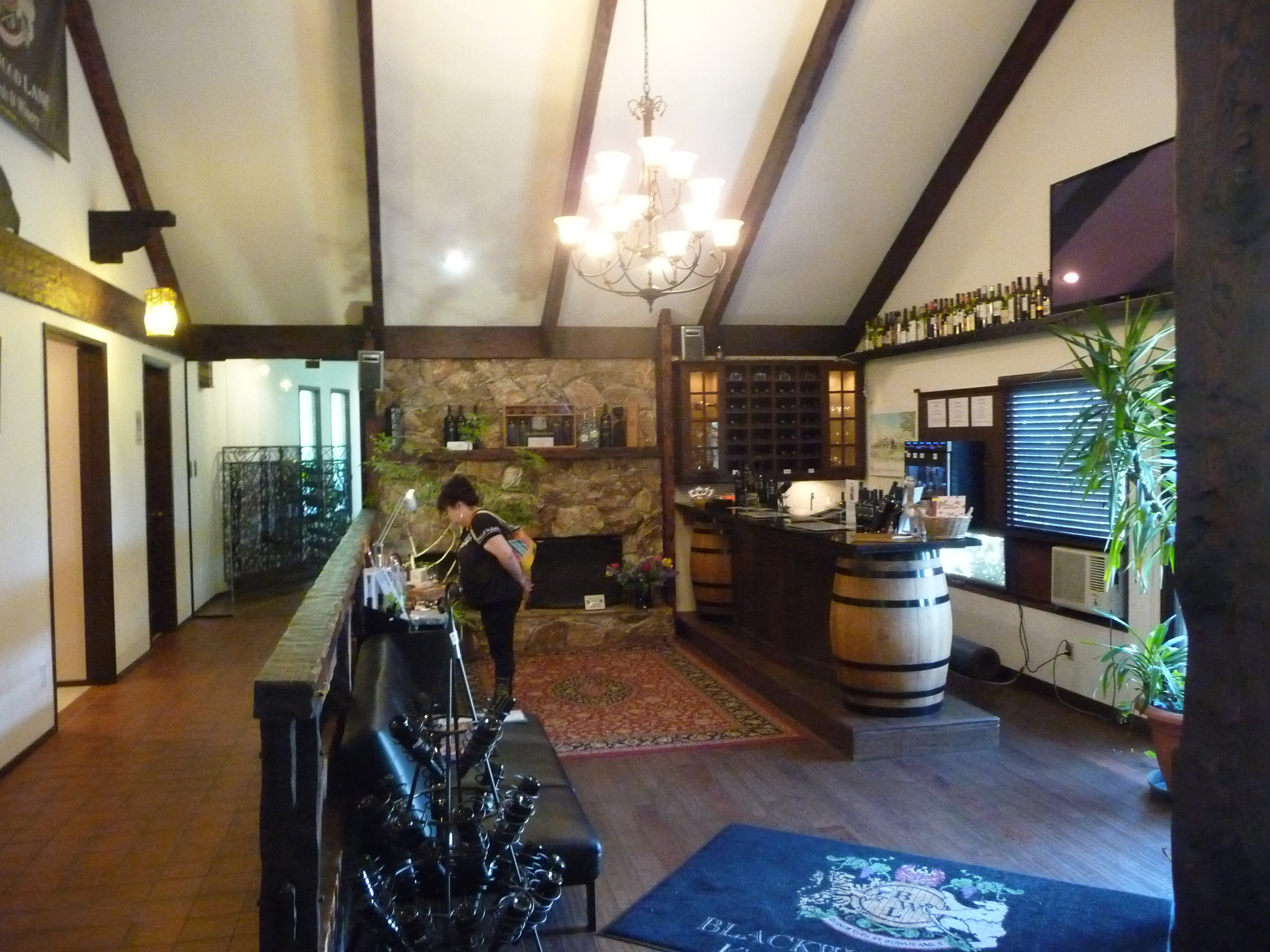 Tasting room of Blackwood Lane Winery in Langley, BC