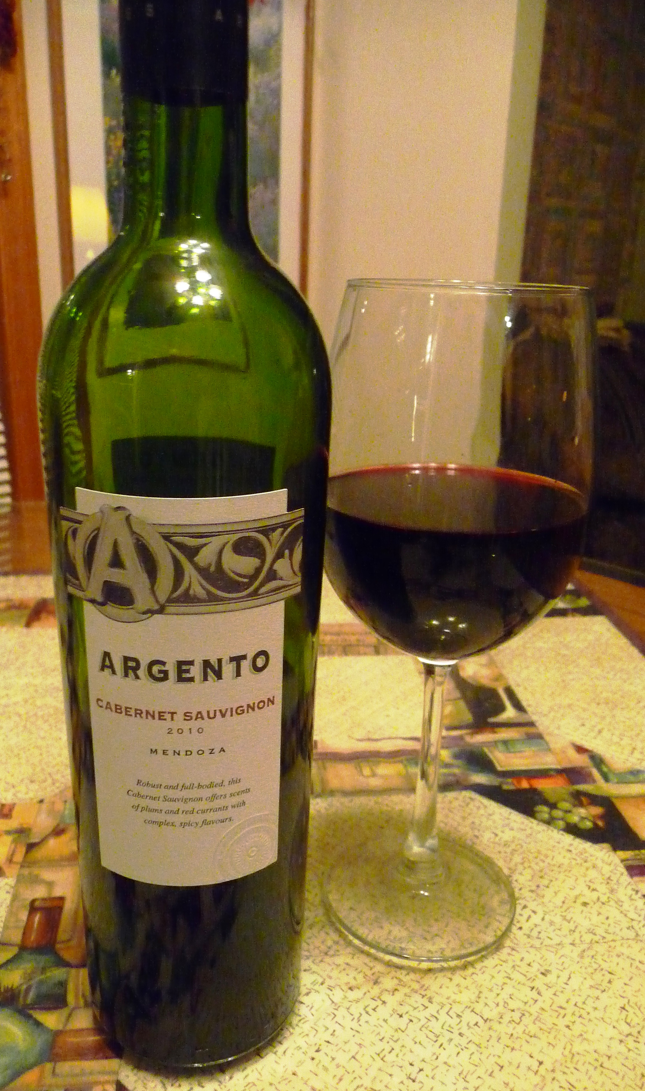 Wines from South America can be a wonderful value like this 2010 Argento Cabernet Sauvignon for $13.