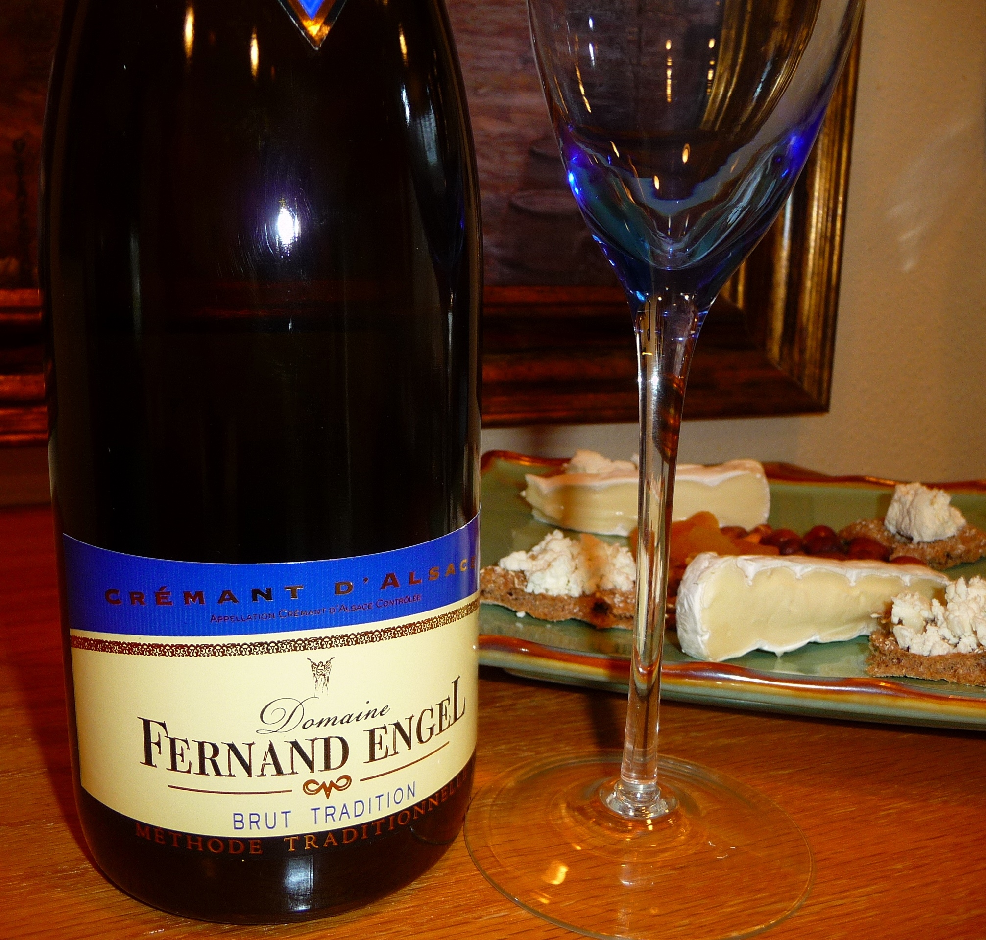 Sparkling wines are often suggested as an aperitif in light of how well they go with party fare. This Crémant D'Alsace  is perfect for holiday gatherings.