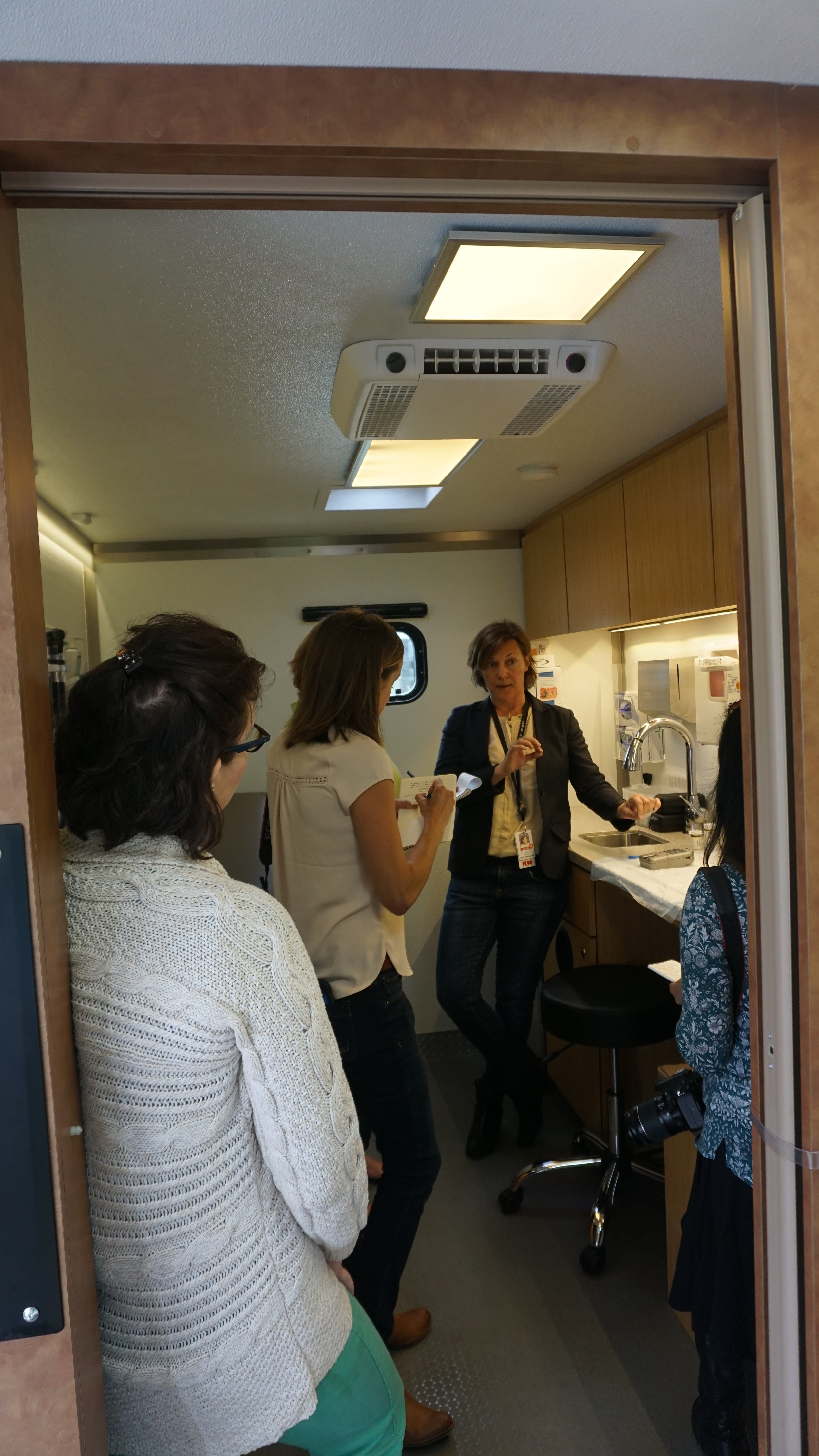 From a mobile medical unit, a variety of preventative care tests and procedures can be conducted. Viki Eierdam