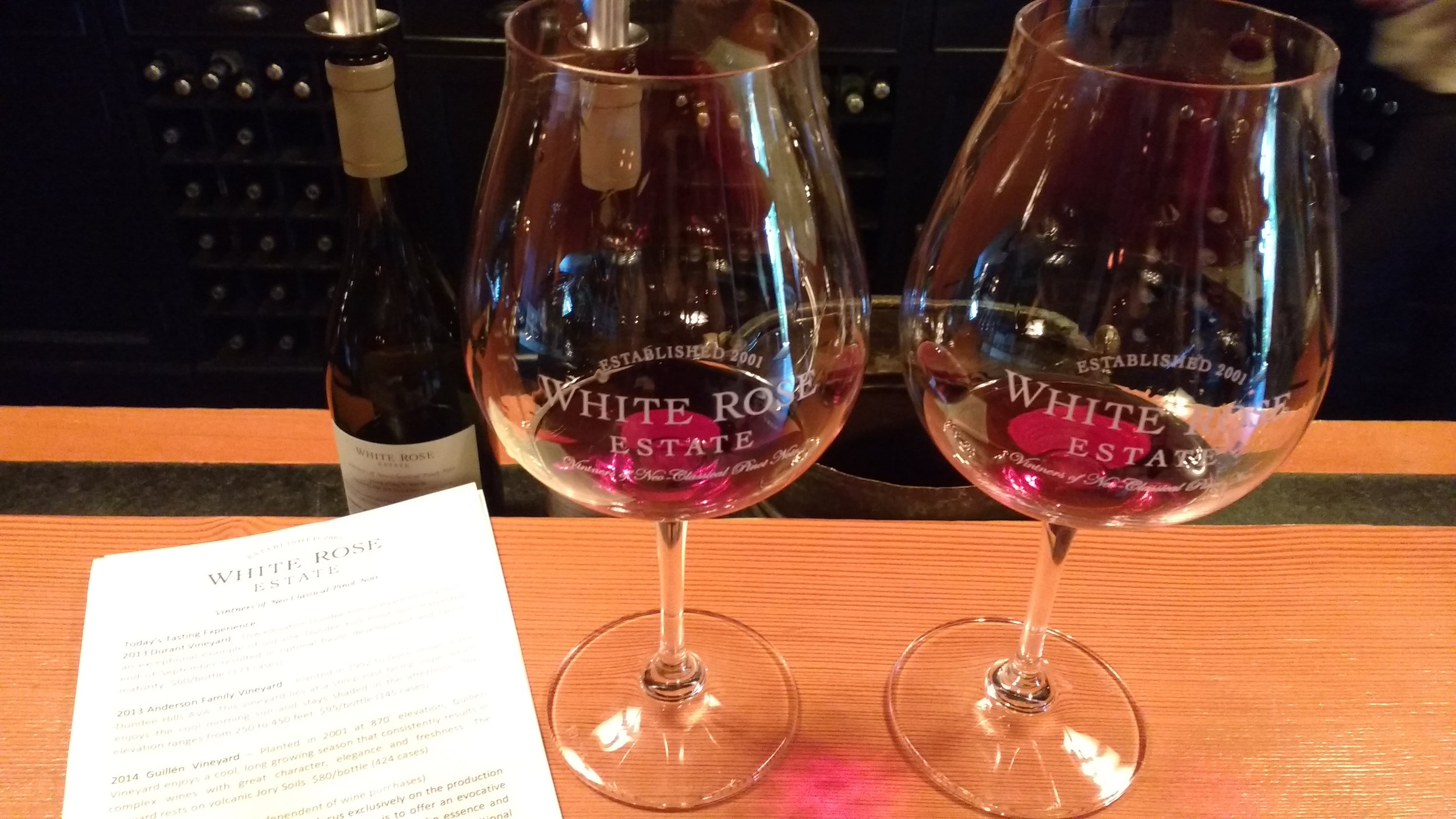 A side-by-side tasting of their 2013 Luciole Vineyard Pinot Noir—one with 20 percent stem inclusion and the other with 80 percent—was a unique wine education experience. Viki Eierdam