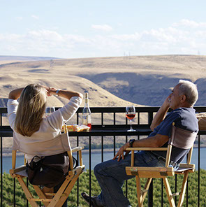 The view from Maryhill Winery is pure Gorge beauty. Courtesy of Columbia Gorge Wine.
