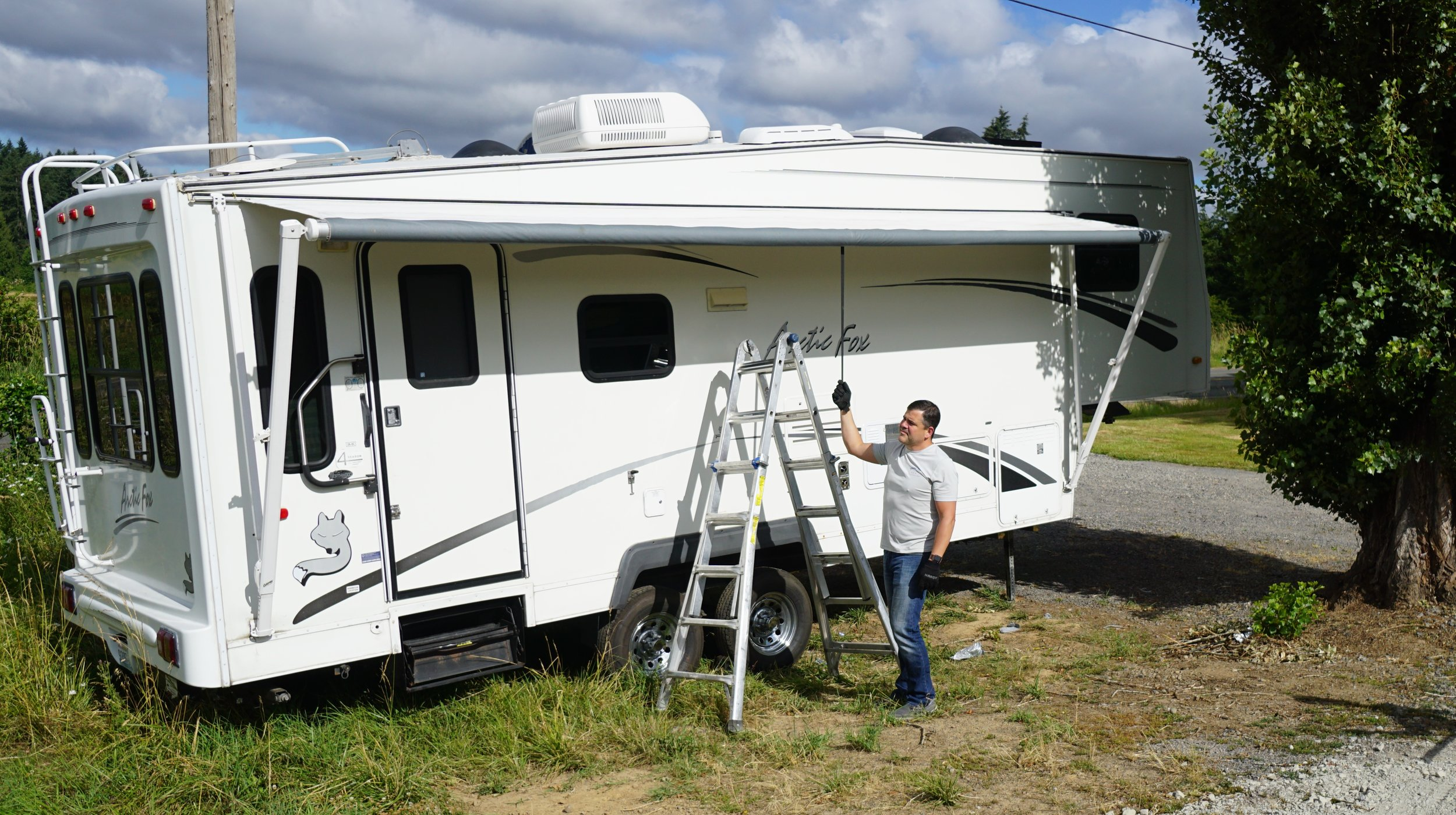 Tyler Hammack is the owner of Tough Top Awnings in Brush Prairie, along with Christie Hammack. Courtesy of Viki Eierdam