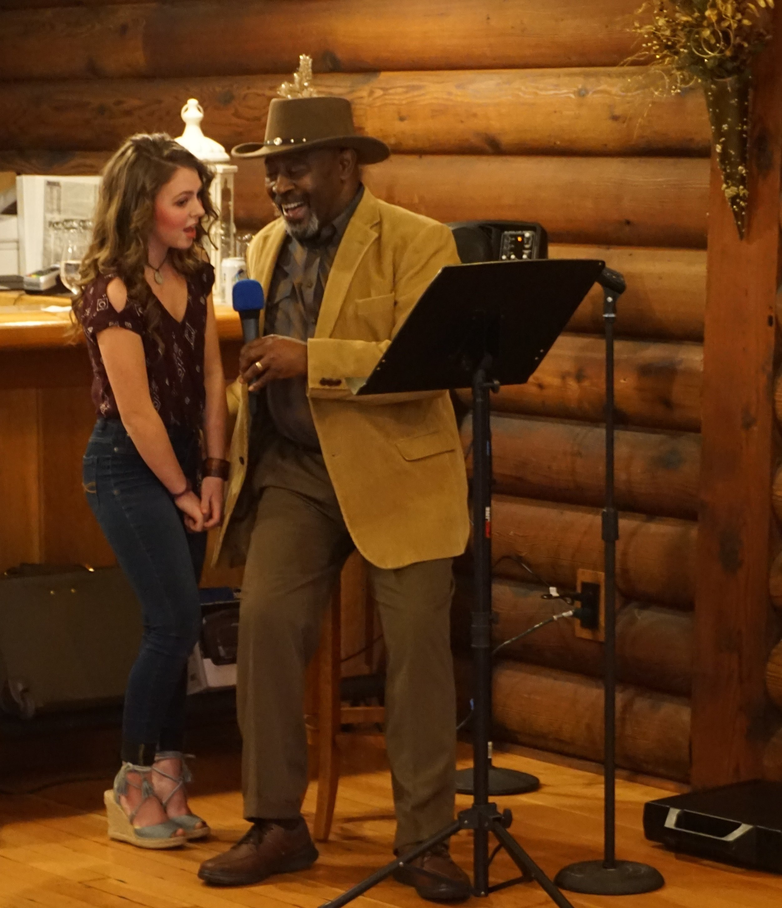 At Summit Grove Lodge in Ridgefield, WA Ashlyn  Holdahl performed with Nehemiah Brown back in February. Viki Eierdam