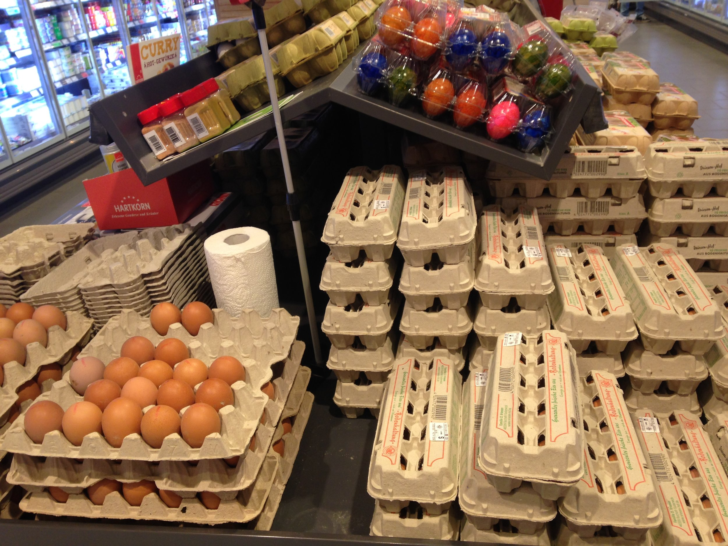 Our village grocery store egg presentation