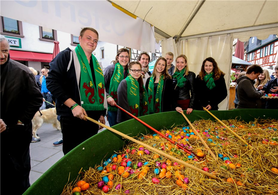 The presenters of Kobern-Gondorf also tried their luck at the Easter basket. Photos: EP
