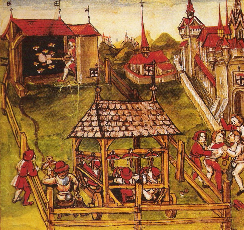 15th Century Schützenfest in Lake Constance. [Public domain], via Wikimedia Commons