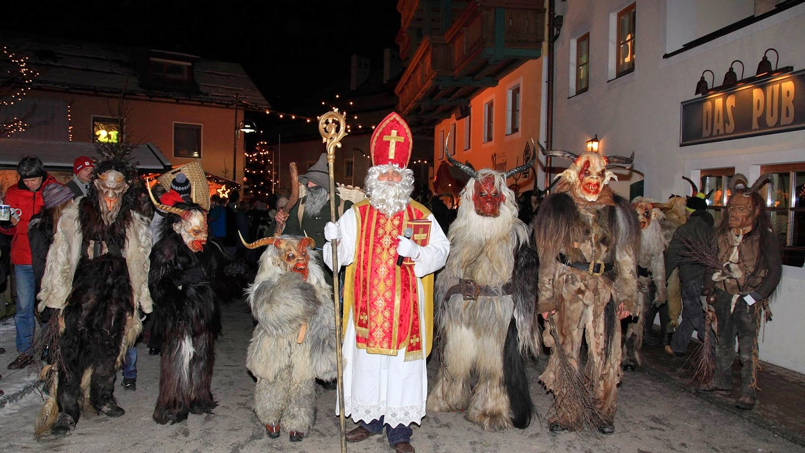 Krampus parades can be found in areas!  May be a bit scary for the little ones.
