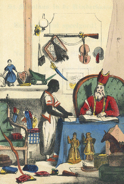 Zwarte Piet in an illustration from Schenkman's book