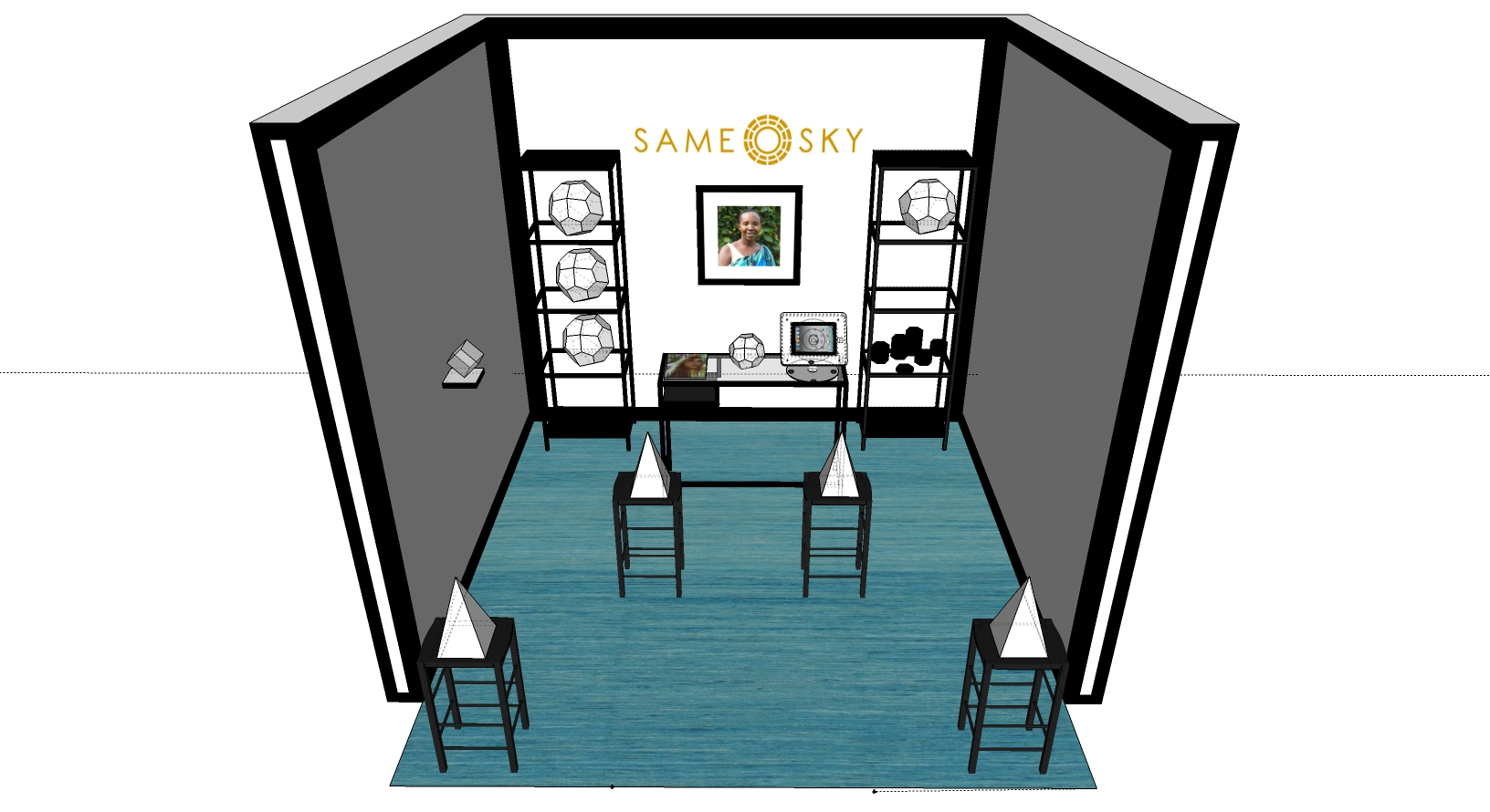 CAD Rendering of trade show space