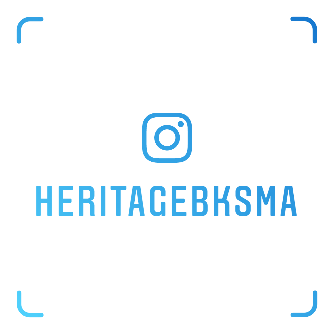 Scan our nametag with the Instagram camera to easily follow us! -