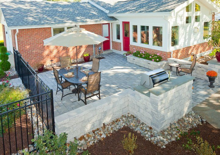 Landscape design with flagstone pavers in Schuylkill County, PA