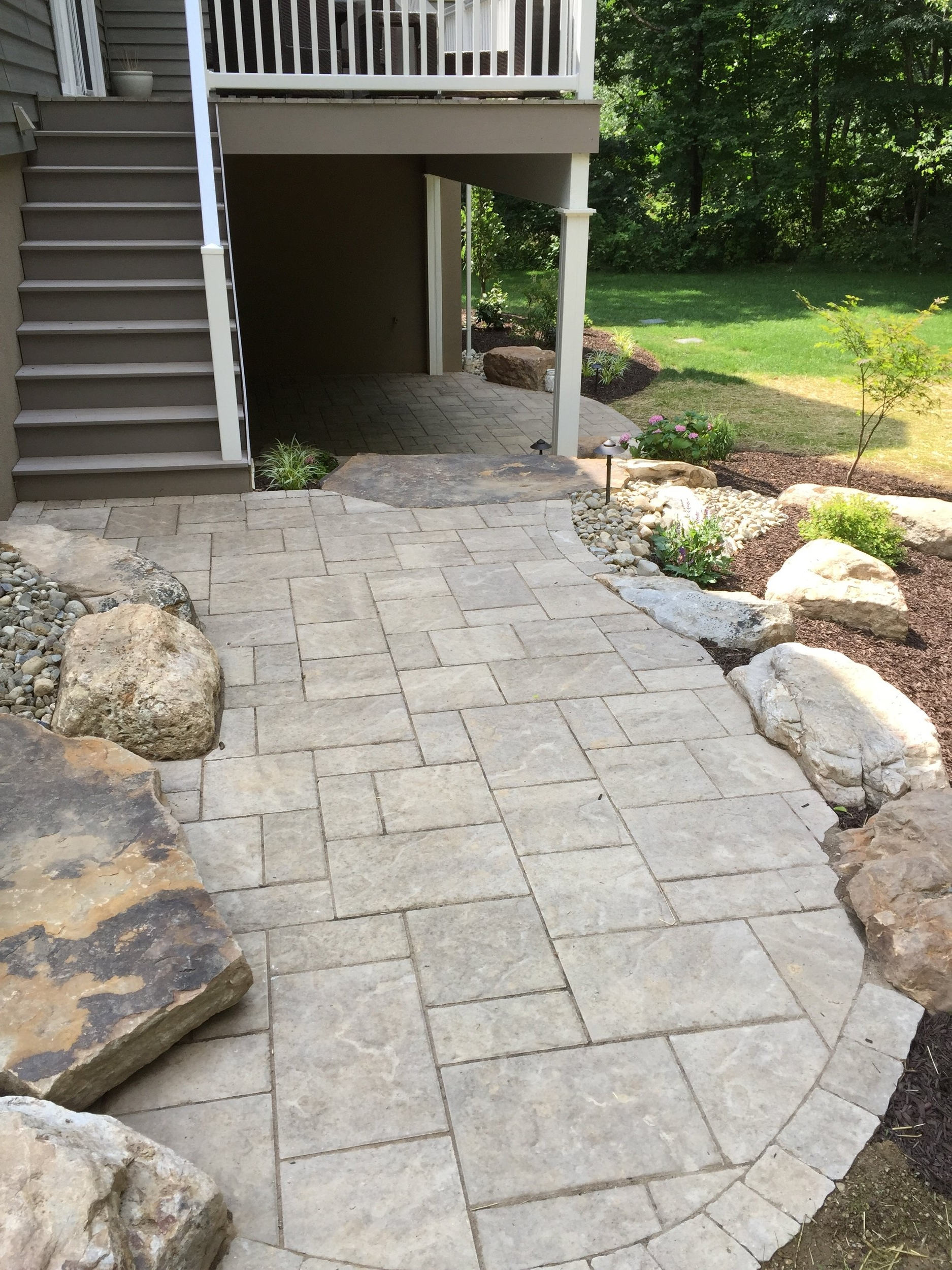 Landscape design with a patio in Reading, PA
