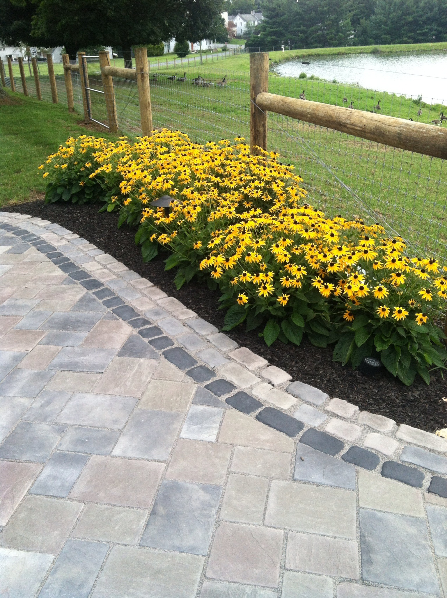 Top landscape design with bluestone in Exeter, PA