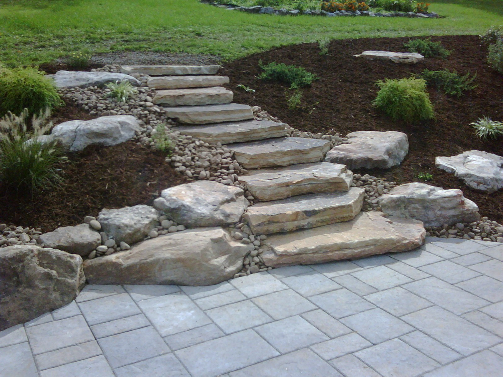 Top landscape design with flagstone inSouth Whitehall, PA