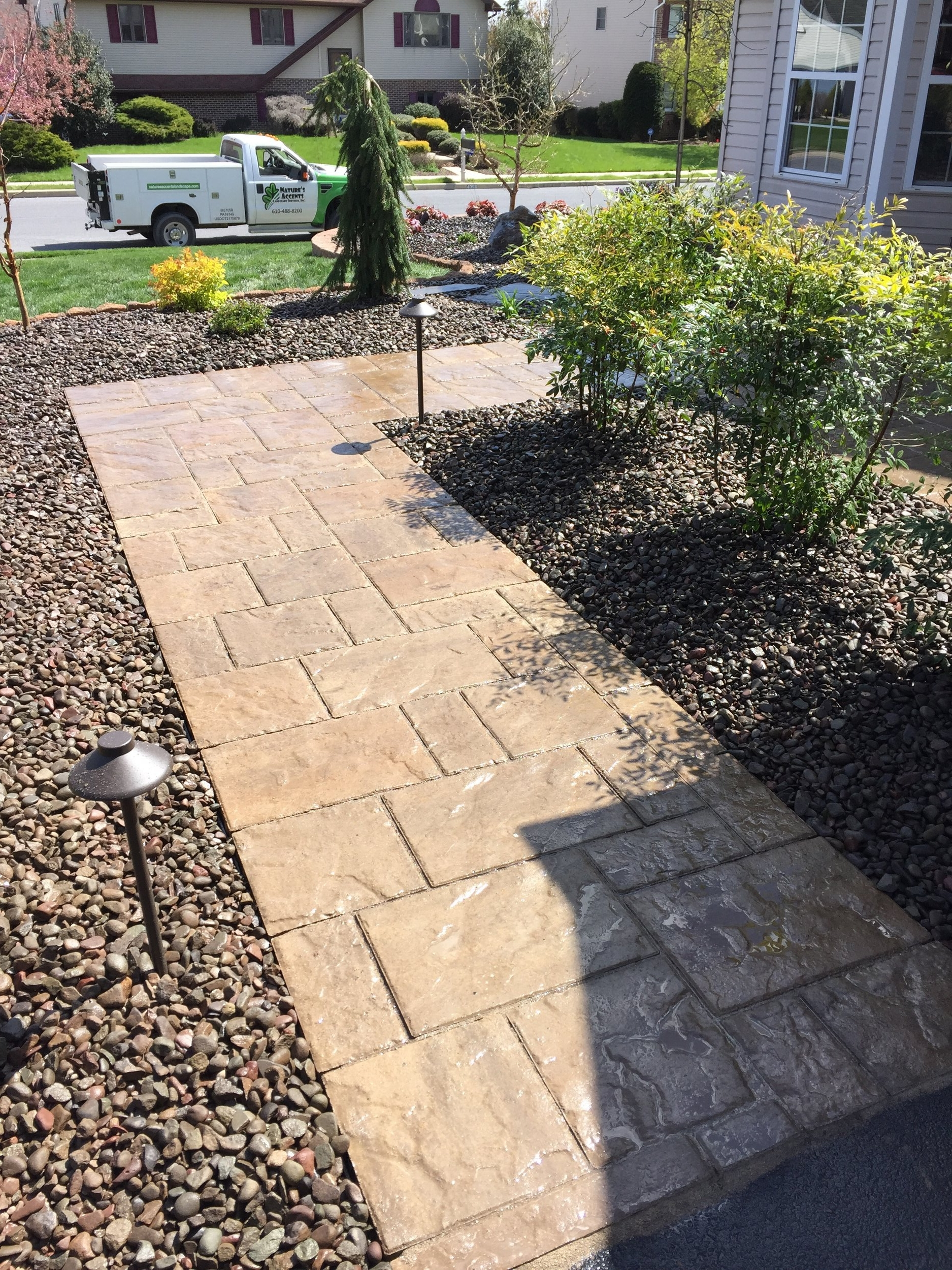 Top landscape design with outdoor lighting Lehigh county, PA