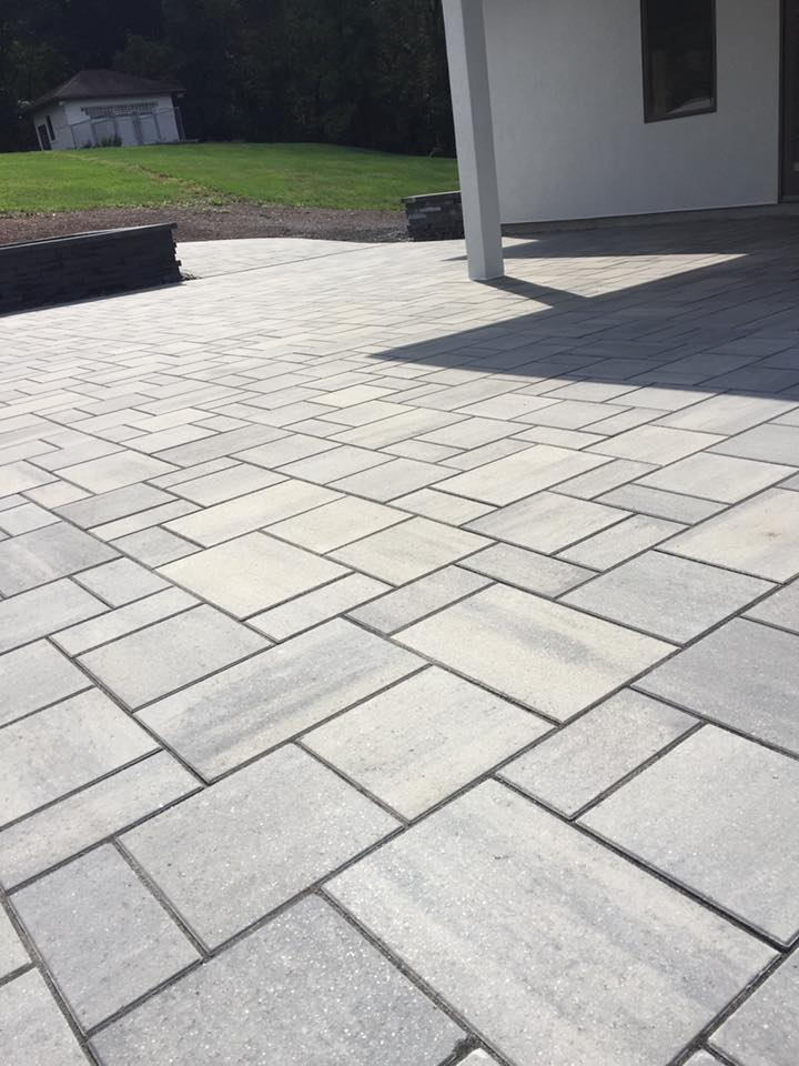 Professional landscape design with patio inWayne Township, PA