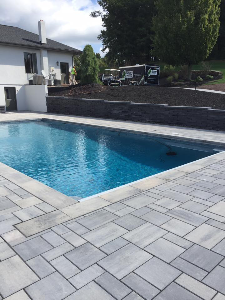 Landscape design with landscaping pavers in Allentown, PA
