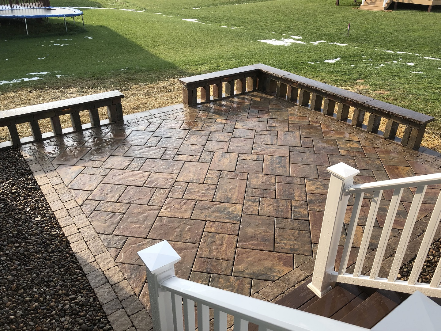 Stunning paver patio in South Whitehall PA