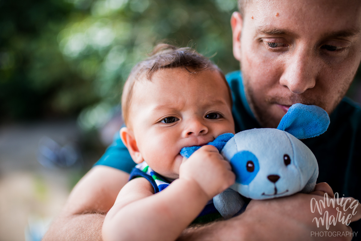baby father with toy