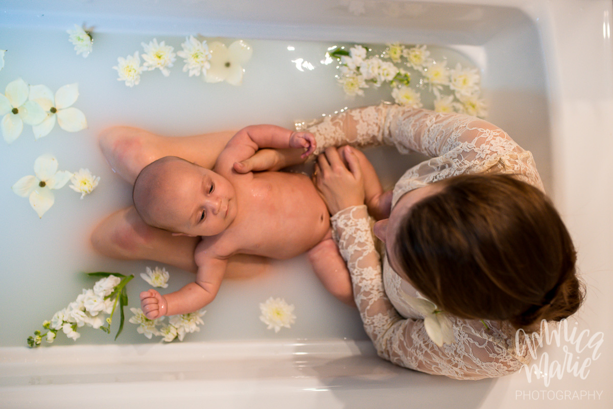 floral milk bath sweet baby