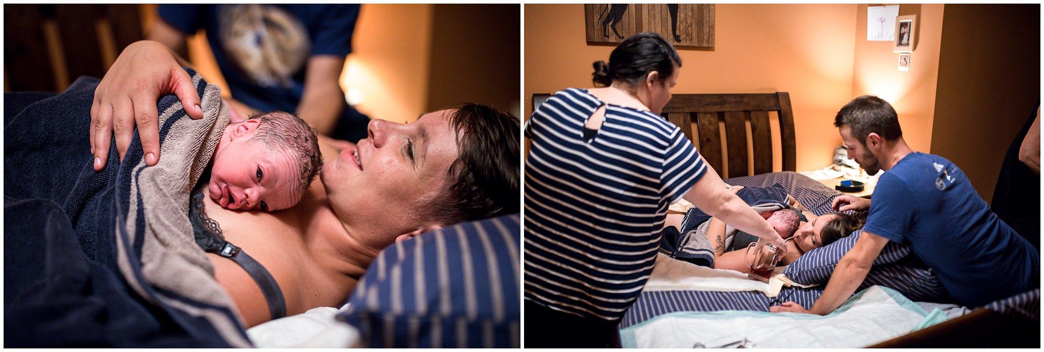 Grand Rapids home birth photographer - Annica Quakenbush - first moments