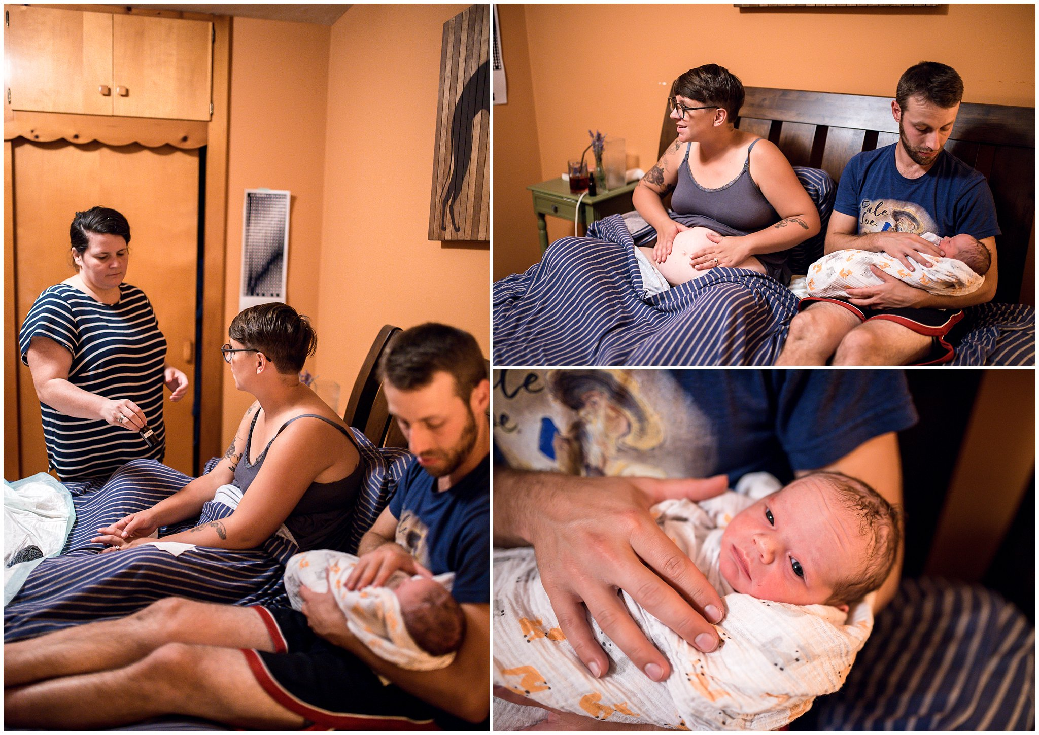 Grand Rapids home birth photographer - Annica Quakenbush - ready to rest
