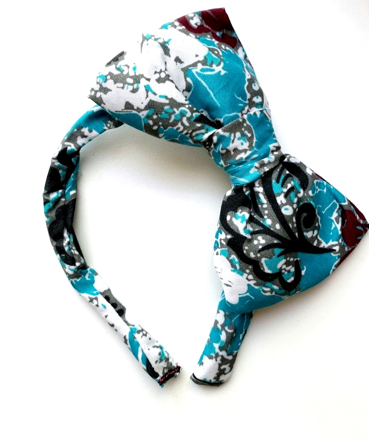 Blue Hair Bow Headband