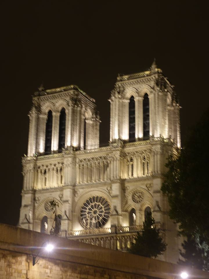 Notre Dame from the Seine at Night